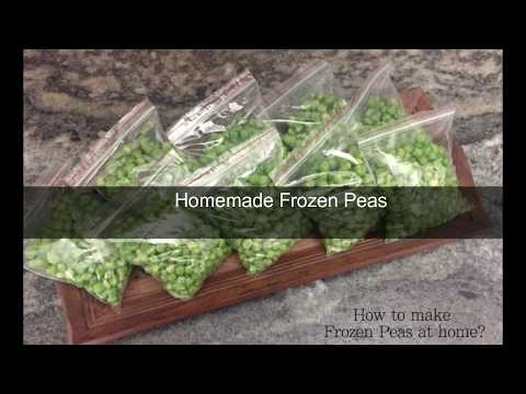 HOW TO MAKE FROZEN PEAS AT HOME