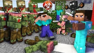 Download Monster School : ZOMBIE APOCALYPSE NOOB vs PRO CHALLENGE - Minecraft Animation Video