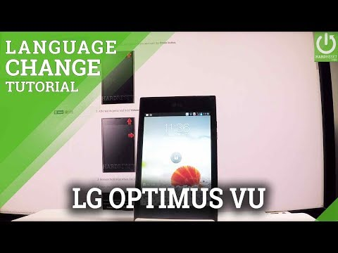 How to Change Language LG F100L Optimus Vu - Set English Android