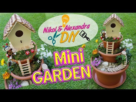 How To Make A Miniature Garden In A Flower Pot