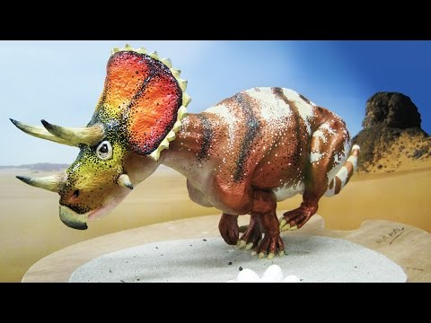 Art Lesson: How to paint a Triceratops Model (part 2)
