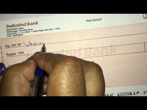 How To Fill a Cheque : Cheque kaise bhare
