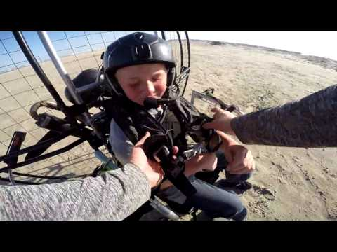 Paramotor 12 Year Old!! World's Best Powered Paragliding Instructor Trains Kid To Fly Ninja!!