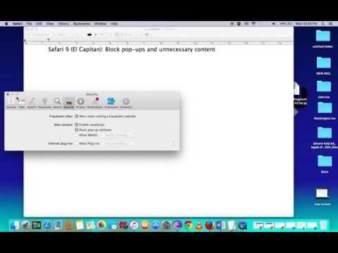 How to Block Pop-up on Mac Safari ( El Capitan)