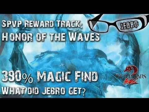 GW2 Honor of the Waves HotW SPVP Reward Track chest opening! Jebro SPVP