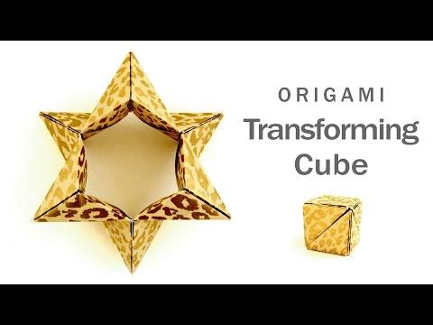 折り紙 変身キューブ Origami Transforming Cube