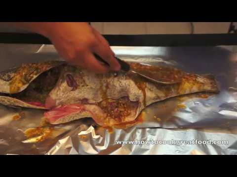 Middle Eastern Whole oven Baked Hammour or Cod Fish Recipe