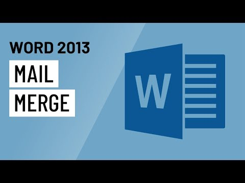 Word 2013: Mail Merge