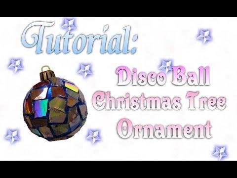How To Make A Disco Ball Christmas Ornament