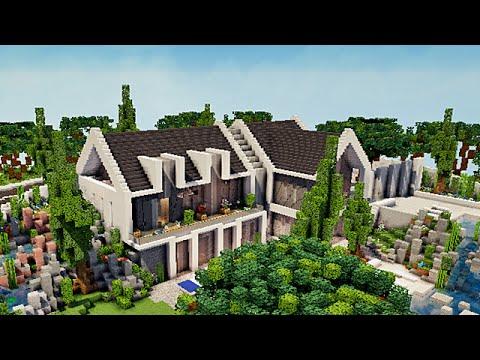 Stunning maison de luxe moderne minecraft tuto contemporary design