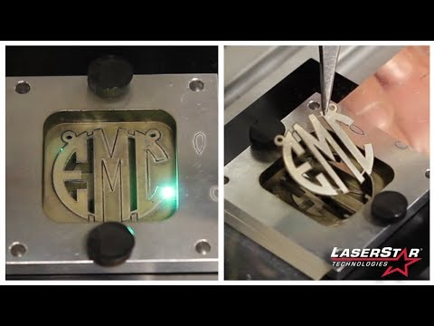 Laser Cutting Monograms from Precious Alloys