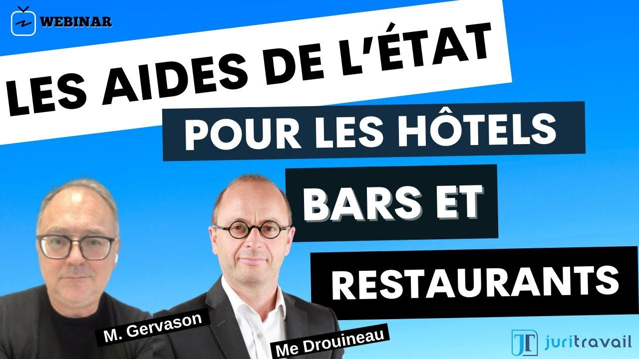 Quelles sont les Aides de l'État pour les bars,hôtels et restaurants touchés par la crise sanitaire?