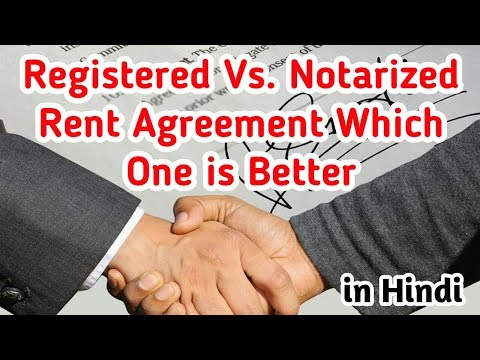 Registered Vs. Notarized Rent Agreement | Difference Between Notrized and Registered Paper