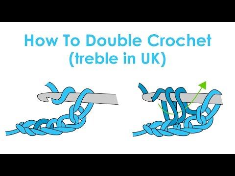 How to Double Crochet (Treble Crochet in UK) - Crochet Lesson 5
