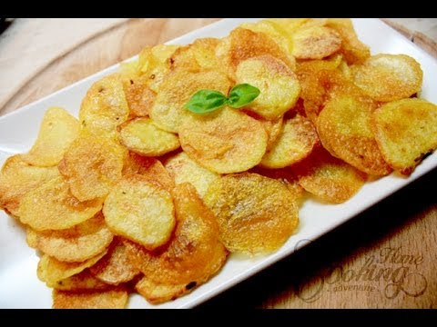 Homemade Baked Potato Chips