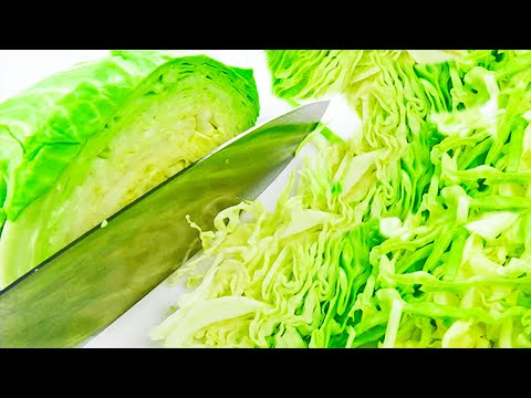 How to Cut Cabbage in Wedges with a Knife