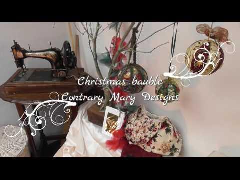 Make a fabric Christmas ornament no sew