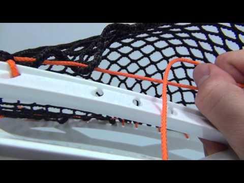 Goalie Sidewall Tutorial: 12 Diamond Mesh in a Nemesis Lyte