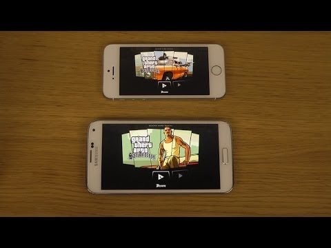 GTA San Andreas Samsung Galaxy S5 vs. iPhone 5S Gameplay Test