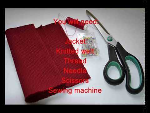 How to extend jacket sleeve