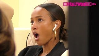Karrueche Tran Receives Shocking News While Getting Her Nails Done At Pampered Hands Salon