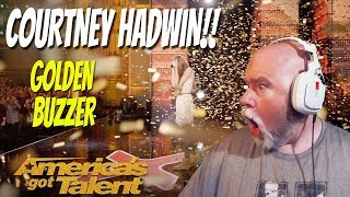 Pharaoh Reacts: Courtney Hadwins Golden Buzzer Performance OMG!!!!!!!