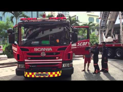SCDF Fire Station Open House - Fire Engine Siren