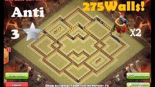 clash of clans-INCREDIBLE TH10 WAR BASE 275 WALLS SPEED-BUILD | Daikhlo