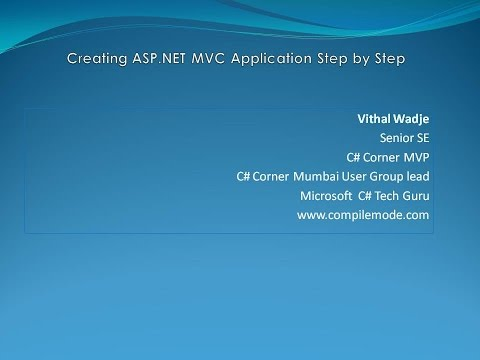 How To Create MVC Application Step by Step In Visual Studio 2015