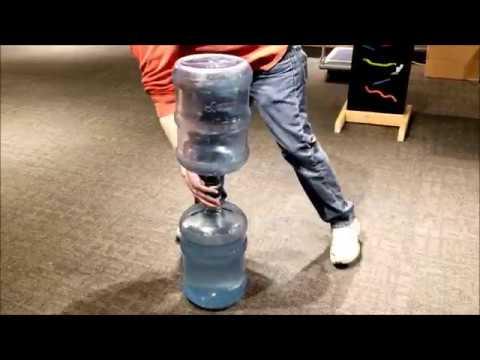 Jumbo Tornado Tube Made From Water Cooler Jugs!