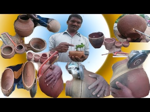 How to : Cut a Clay Pot in half and use it to Grow plants or Seedlings DIY