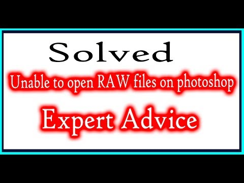 How to open raw files on photoshop