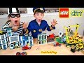 Pretend Play Lego Police Bank And Construction Truck Heist JackJackPlays