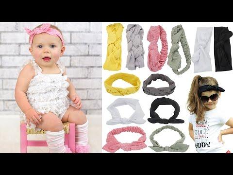 How to tie Graceful Shine Baby Girl Head Wraps Headbands