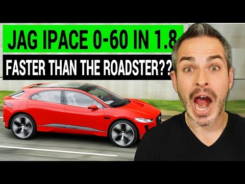 Jaguar IPace 0-60 in 1.8 seconds: Faster than Tesla Roadster?