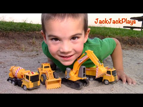 Xxx Mp4 Construction Vehicles Toys For Kids Toy UNBOXING MB Excavator Dump Truck Cement Mixer Loader 3gp Sex