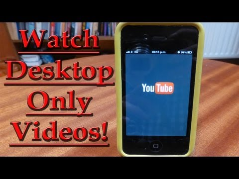 How To Watch Desktop Only Videos On iPhone UPDATED!