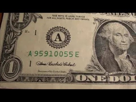 serial number on dollar bill question to currency hunters