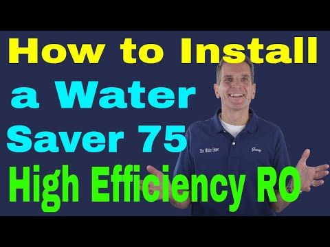 How to Install a Water Saver 75 High Efficiency Reverse Osmosis Drinking Water System