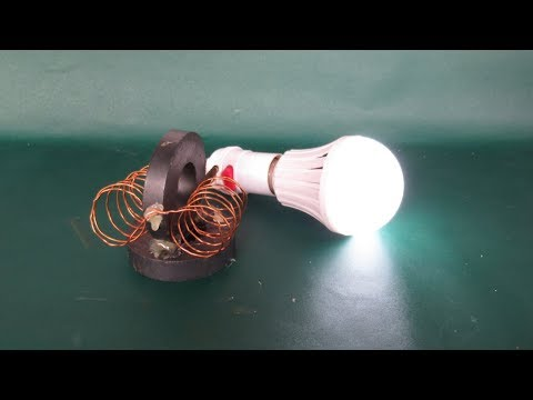 Awesome magnets free energy light bulbs 100% - Easy free energy project easy at home (NEW)