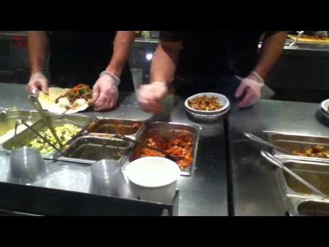Steak Burrito and Burrito Bowls being made at Chipotle Mexican Grill - AaronTheEagle1 Video