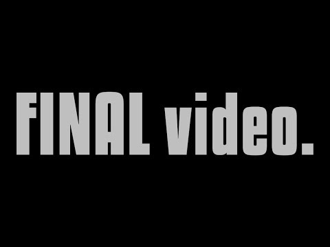 My FINAL Video for 2017...