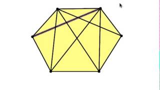 Counting The Diagonals In A Hexagon