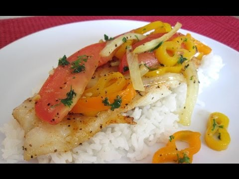 Pan Fried SWAI - Fresh Fish Sauteed in Butter and Smothered in Vegetables - PoorMansGourmet