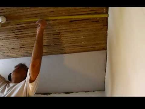 Re-Plastering a Lath and Plaster Ceiling with Plasterboard