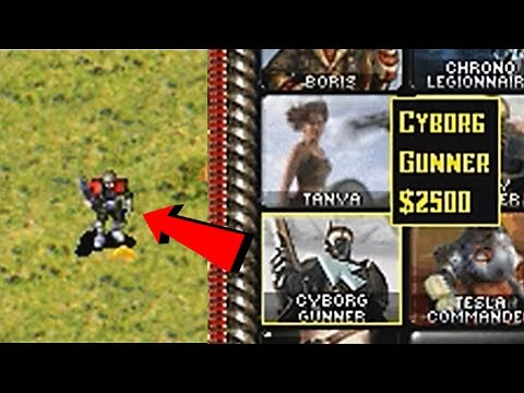 CYBORG GUNNER Top Secret Unit Red Alert 2 mod REBORN