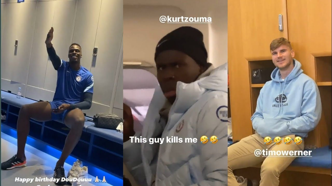 Chelsea Funny Dressing Room Newest/Update || Werner, Mendy, And Zouma