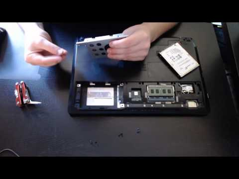 How to replace/upgrade to an SSD in an Asus Laptop