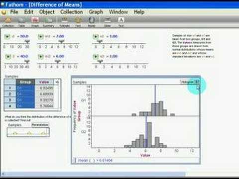 Spring 2007 Lab 6 change dot plot to histogram