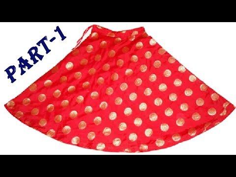 DIY| umbrella gher chaniya cutting and stitching in hindi part 1